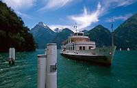 Anleger bei Tellsplatte am Urner See,Teil des Vierwaldstätter Sees, Schweiz