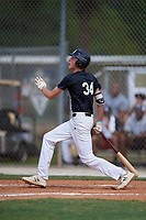 Drew Gray during the WWBA World Championship at the Roger Dean Complex on October 19, 2018 in Jupiter, Florida.  Drew Gray is an outfielder from Swansea, Illinois who attends Belleville East High School and is committed to Arkansas.  (Mike Janes/Four Seam Images)