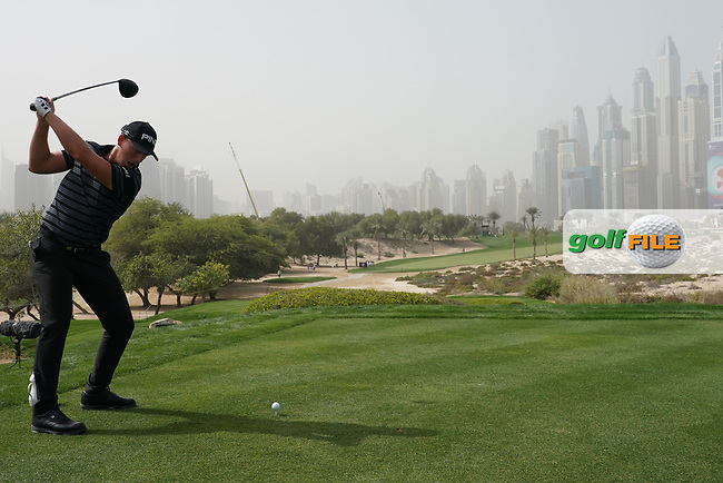 Matt Wallace (ENG) in action during the first round of the Omega Dubai Desert Classic, Emirates Golf Club, Dubai, UAE. 24/01/2019<br /> Picture: Golffile | Phil Inglis<br /> <br /> <br /> All photo usage must carry mandatory copyright credit (© Golffile | Phil Inglis)