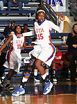 Texas - Arlington Mavericks guard Kiara Parker (15) watches the ball go out of bounds in the game between the UTA Mavericks and the  Nicholls State University Colonels  held at the University of Texas in Arlington's Texas Hall in Arlington, Texas. UTA defeats Nicholls 69 to 62