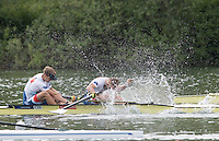 Lucerne, SWITZERLAND<br /> <br /> CZE M2-, Bow Jakub PODRAZIL and Lukas HELESIC, 2016 European Olympic Qualifying Regatta, Lake Rotsee.<br /> <br /> Tuesday  24/05/2016<br /> <br /> [Mandatory Credit; Peter SPURRIER/Intersport-images]