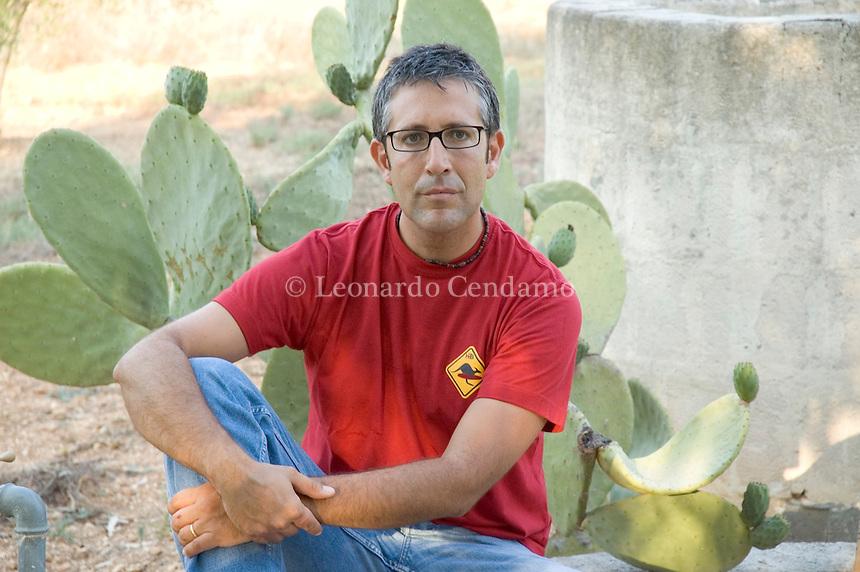 Nardò, (Lecce), Italy, 2005. Livio Romano, Italian writer.