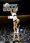 January 21, 2012:   Nevada Wolf Pack cheerleaders perform during a timeout in their game against the Fresno State Bulldogs at Lawlor Events Center on Saturday night in Reno, Nevada.