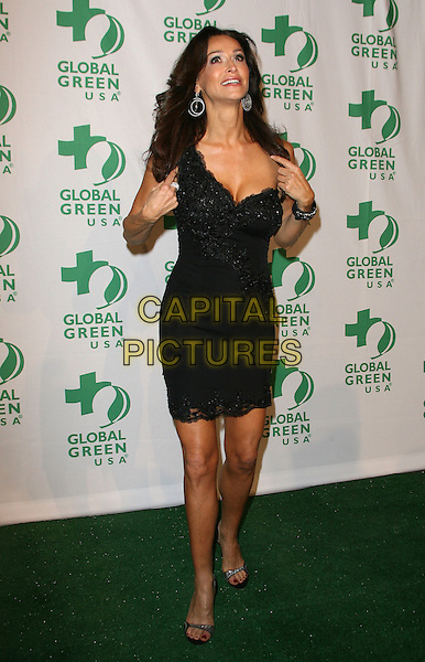 Sofia Milos.Global Green USA's 9th Annual Pre-Oscar Party held at the Avalon, Hollywood, California, USA..February 22nd, 2012.full length dress black one shoulder hands arms.CAP/ADM.©AdMedia/Capital Pictures.