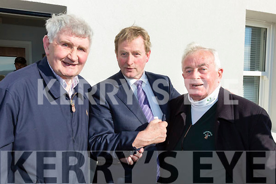Mick O'Dwyer & Noel Cronin with An Taoiseach Enda Kenny at the opening of the Iveragh Coast Guard Station on Monday.