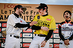 Baseball skills time for Alberto Contador (ESP) and Tour de France Champion Geraint Thomas (WAL) at the media day before the 2018 Saitama Criterium, Japan. 3rd November 2018.<br /> Picture: ASO/Pauline Ballet | Cyclefile<br /> <br /> <br /> All photos usage must carry mandatory copyright credit (© Cyclefile | ASO/Pauline Ballet)