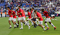 Lyon, France - Saturday June 09, 2018: USMNT during an international friendly match between the men's national teams of the United States (USA) and France (FRA) at Groupama Stadium.