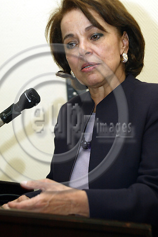 Belgium--Brussels-- 01 April 2004 - Crowne Plaza --Nayla R. MOAWAD, MP, President of the Ren? Moawad Foundation and Presidential cadidate in Lebanon - PHOTO: EUP-IMAGES / ANNA-MARIA ROMANELLI