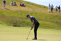 Harry Ellis (AM)(ENG) putts on the 14th green during Thursday's Round 1 of the 118th U.S. Open Championship 2018, held at Shinnecock Hills Club, Southampton, New Jersey, USA. 14th June 2018.<br /> Picture: Eoin Clarke | Golffile<br /> <br /> <br /> All photos usage must carry mandatory copyright credit (&copy; Golffile | Eoin Clarke)