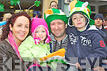 Catriona, Naoishe, Stephen and Cathal O'Donoghue Listry who enjoyed the Killarney St Patricks day parade on Saturday..