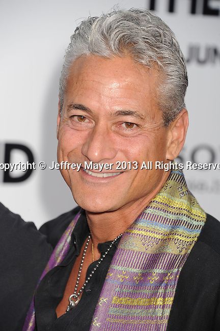 WESTWOOD, CA- JUNE 03: Diver/Actor Greg Louganis arrives at the 'This Is The End' - Los Angeles Premiere at Regency Village Theatre on June 3, 2013 in Westwood, California.