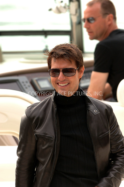 "WWW.ACEPIXS.COM . . . . .  ....May 3 2006, New York City....Actor Tom Cruise spent the day promoting his new movie ""Mission Impossible 3"" in Manhattan. He visited various television shows, where he signed autographs for fans, and took a speedboat up the Hudson River to Harlem for a screening of the movie.....Please byline: BRETT KAFFEE-ACEPIXS.COM.... *** ***..Ace Pictures, Inc:  ..(212) 243-8787 or (646) 769 0430..e-mail: picturedesk@acepixs.com..web: http://www.acepixs.com"