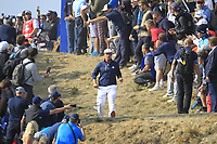 Bryson DeChambeau (Team USA) on the 7th during the Friday Foursomes at the Ryder Cup, Le Golf National, Ile-de-France, France. 28/09/2018.<br /> Picture Thos Caffrey / Golffile.ie<br /> <br /> All photo usage must carry mandatory copyright credit (&copy; Golffile | Thos Caffrey)