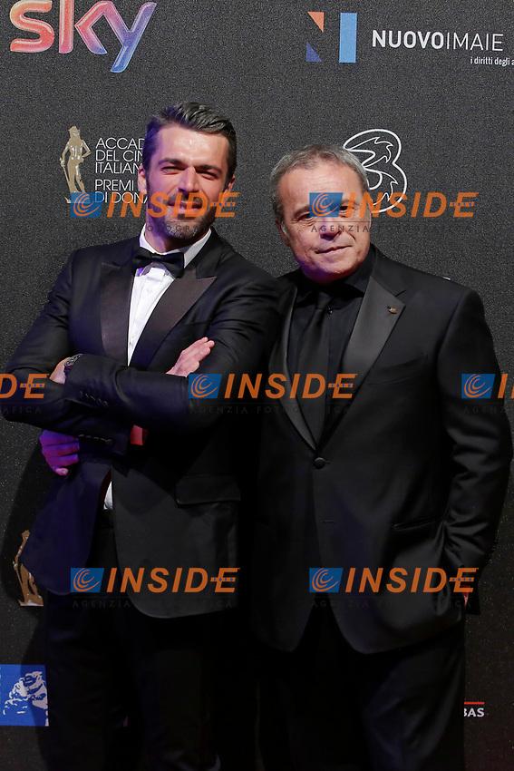 Luca Argentero e Claudio Amendola<br /> Roma 27-03-2017. Premio David di Donatello 2017.<br /> Rome March 27th 2017. David di Donatello ceremony 2017. <br /> Foto Samantha Zucchi Insidefoto