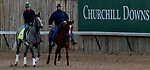 LOUISVILLE, KENTUCKY - APRIL 29: Tacitus, trained by William Mott, exercises in preparation for the Kentucky Derby at Churchill Downs in Louisville, Kentucky on April 29, 2019. Scott Serio/Eclipse Sportswire/CSM