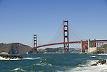 San Francisco: Baker Beach with Golden Gate Bridge in background.  Photo # 2-casanf83345.  Photo copyright Lee Foster