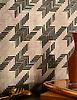 Houndstooth, a handmade mosaic backsplash shown in Amethyst and Rose Quartz jewel glass.