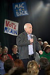 12 January 2007: US Senator and Republican Presidential candidate John McCain at a town hall in Warren, Michigan, USA.