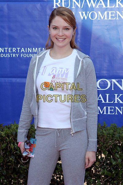 SHANNON LUCIO.12th Annual Revlon Run/Walk for Women in Los Angeles held at the Los Angeles Memorial Coliseum. .May 7th, 2005.Photo Credit: Zach Lipp/AdMedia.half length grey gray tracksuit.www.capitalpictures.com.sales@capitalpictures.com.© Capital Pictures.