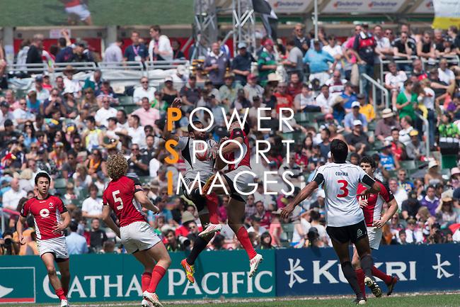 Canada vs Portugal on Day 3 of the 2012 Cathay Pacific / HSBC Hong Kong Sevens at the Hong Kong Stadium in Hong Kong, China on 25th March 2012. Photo © Manuel Queimadelos / PSI for HKRFU