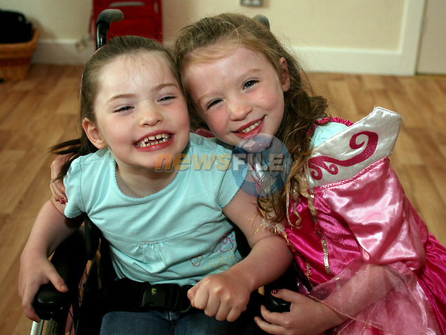 Sisters Lauren and Vicky Faulkner at the Irish Wheelchair Association Summer Camp..Photo NEWSFILE/Jenny Matthews.(Photo credit should read Jenny Matthews/NEWSFILE)....This Picture has been sent you under the condtions enclosed by:.Newsfile Ltd..The Studio,.Millmount Abbey,.Drogheda,.Co Meath..Ireland..Tel: +353(0)41-9871240.Fax: +353(0)41-9871260.GSM: +353(0)86-2500958.email: pictures@newsfile.ie.www.newsfile.ie.FTP: 193.120.102.198.
