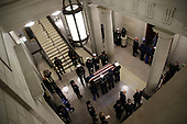WASHINGTON, DC - DECEMBER 03:  A military honor guard team carries the casket of former U.S. President George H.W. Bush into the U.S Capitol on December 03, 2018 in Washington, DC. A state funeral for former U.S. President Bush will be held in Washington over the next three days, beginning with him lying in state in the Rotunda of the U.S. Capitol until Wednesday morning.  (Photo by Win McNamee - Pool/Getty Images)