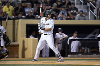 Keegan Maronpot (13) of the Wake Forest Demon Deacons at bat against the West Virginia Mountaineers in Game Four of the Winston-Salem Regional in the 2017 College World Series at David F. Couch Ballpark on June 3, 2017 in Winston-Salem, North Carolina.  The Demon Deacons walked-off the Mountaineers 4-3.  (Brian Westerholt/Four Seam Images)