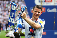 Connor Jennings, scorer of Tranmere's winning goal celebrates with the Trophy after the match during Newport County vs Tranmere Rovers, Sky Bet EFL League 2 Play-Off Final Football at Wembley Stadium on 25th May 2019