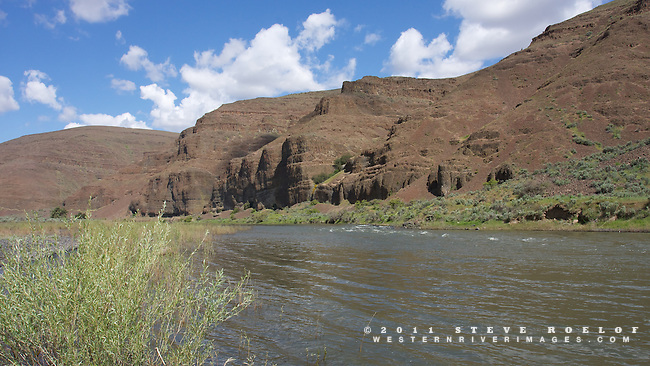 The John Day River flows through Murtha Ranch, Oregon.