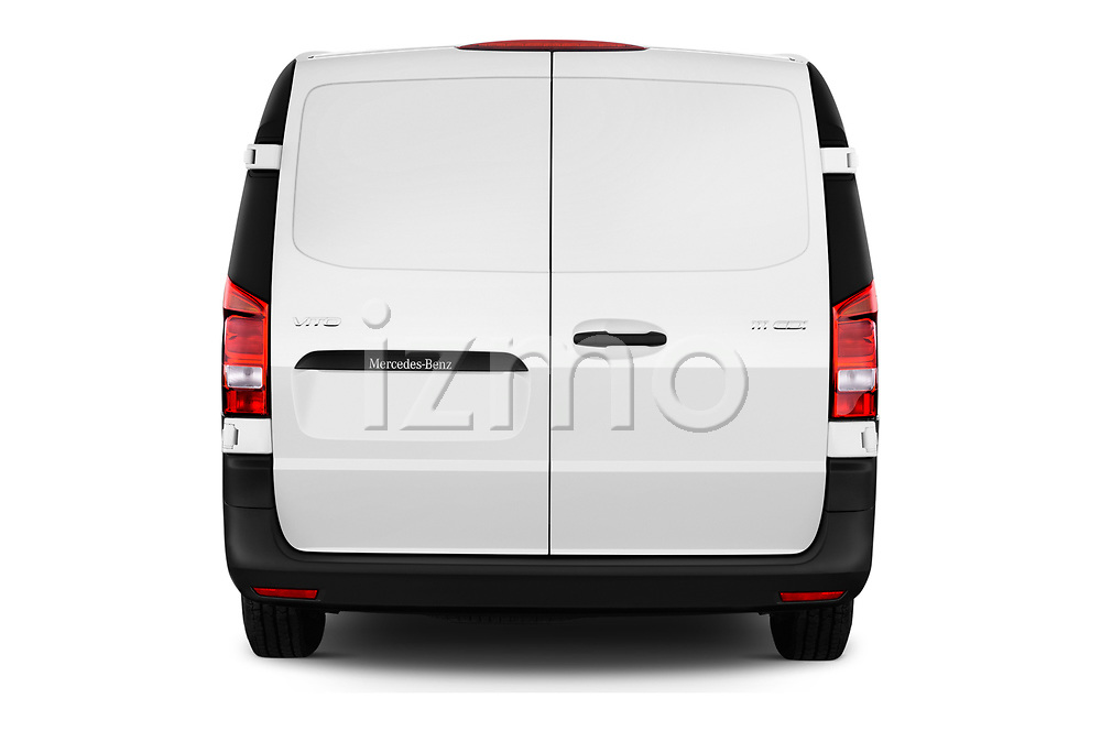Straight rear view of 2019 Mercedes Benz Vito Base 4 Door Car Van Rear View  stock images