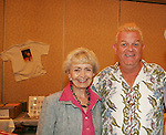 "Diana Sowle (Wily Wonka and the Chocolate Factory) with Bob Hastings ""Burt Ramsey"" GH at 4th Annual Mid-Atlantic Nostalgia Convention in Aberdeen, Maryland. (Photo by Sue Coflin/Max Photos)"