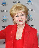 """28 December 2016 - Debbie Reynolds, the Oscar-nominated """"Singin' in the Rain,""""  singer-actress who was the mother of late actress Carrie Fisher, has died. She was 84. """"She wanted to be with Carrie,"""" her son Todd Fisher told Variety. She was taken to the hospital from Todd Fisher's Beverly Hills house Wednesday after a suspected stroke, the day after her daughter Carrie Fisher died. File Photo: 12 April 2012 - Hollywood, California - Debbie Reynolds. 2012 TCM Classic Film Festival Opening Night Gala Held at Grauman's Chinese Theatre. Photo Credit: Kevan Brooks/AdMedia"""