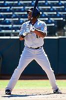 Mesa Solar Sox first baseman Jonathan Singleton #43, of the Houston Astros organization, during an Arizona Fall League game against the Phoenix Desert Dogs at Phoenix Municipal Stadium on October 19, 2012 in Phoenix, Arizona.  Phoenix defeated Mesa 10-6.  (Mike Janes/Four Seam Images)