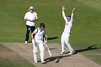Simon Harmer of Essex with an appeal for a wicket during Warwickshire CCC vs Essex CCC, Specsavers County Championship Division 1 Cricket at Edgbaston Stadium on 11th September 2019