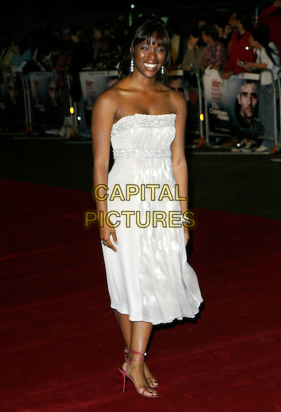 "CLAIRE-HOPE ASHITEY.Arrivals - ""Children Of Men"" Premiere, .Odeon Leicester Square Cinema, .London, England, September 19th 2006..full length white strapless dress claire hope clare.Ref: AH.www.capitalpictures.com.sales@capitalpictures.com.©Adam Houghton/Capital Pictures."