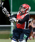 GER - Hannover, Germany, May 30: During the Women Lacrosse Playoffs 2015 match between DHC Hannover (black) and SC Frankfurt 1880 (red) on May 30, 2015 at Deutscher Hockey-Club Hannover e.V. in Hannover, Germany. Final score 23:3. (Photo by Dirk Markgraf / www.265-images.com) *** Local caption *** Celina Aniolek #40 of SC 1880 Frankfurt