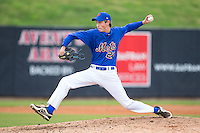 Evan Sisk (21) of Lewisville High School in Lewisville, South Carolina playing for the New York Mets scout team at the South Atlantic Border Battle at Doak Field on November 1, 2014.  (Brian Westerholt/Four Seam Images)