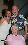 """Posing after the play is Nancy Alban with her mom Madge and dad Haswell as Guiding Light's Nancy St. Alban and Paul Anthony Stewart """"Michelle  & Danny Santos"""" star in the unromantic romantic comedy - Hate Mail from August 2 thru August 12, 2007 at Summerstage New York in Fayetteville, New York. (the play was fun and enjoyable) - Nancy's mom Madge and dad Haswell came to see the play. This fall Paul can be seen starring in the new musical """"The Family Fiorelli"""" in New York City. (Photos by Sue Coflin/Max Photos) - 917-647-8403"""