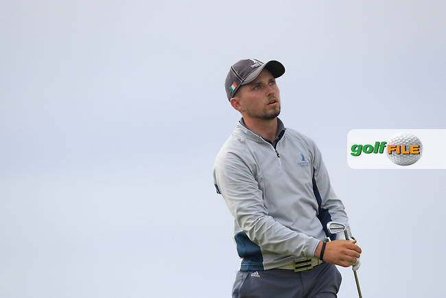 Keith Egan (Carton House) on the 16th tee during Matchplay Round 4 of the South of Ireland Amateur Open Championship at LaHinch Golf Club on Saturday 25th July 2015.<br /> Picture:  Golffile | TJ Caffrey