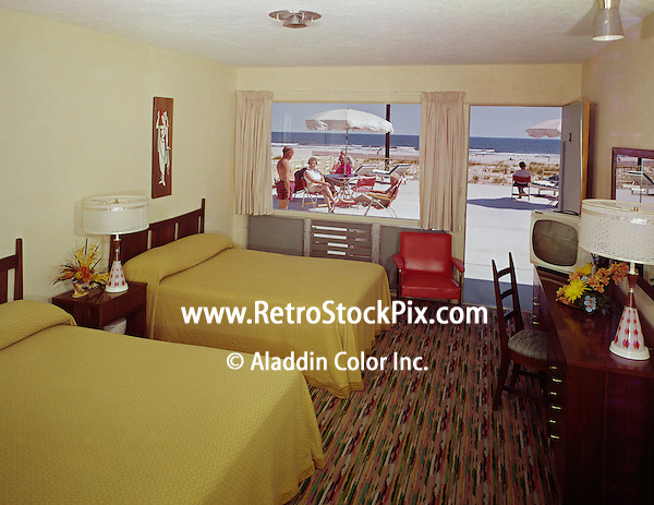 La Vita Motel Wildwood NJ. 1960's Motel Room with a patio  & ocean view.