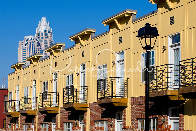Alpha Mills apartments in Charlotte, NC. The property, developed by Crosland, is a transformed historic cotton mill located in the NoDa Arts District.