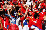 Chile fans,<br /> JUNE 28, 2014 - Football / Soccer :<br /> FIFA World Cup Brazil 2014 Round of 16 match between Brazil 1(3-2)1 Chile at Estadio Mineirao in Belo Horizonte, Brazil. (Photo by D.Nakashima/AFLO)