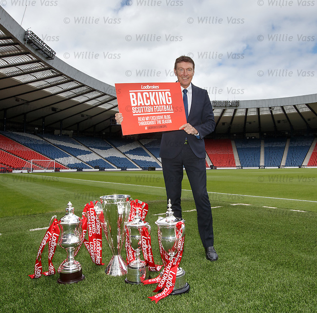 Gordon Smith at Hampden Park as Ladbrokes Ambassador for the SPFL