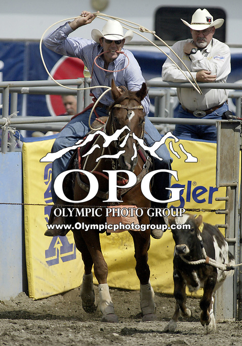 29 Aug 2009:   Jack Vanderlans could not score a time in the Tie Down Roping competition at the Kitsap County Wrangler Million Dollar PRCA Pro Rodeo Tour in Bremerton, Washington.