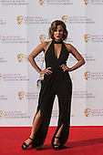 London, UK. 8 May 2016. Caroline Flack. Red carpet  celebrity arrivals for the House Of Fraser British Academy Television Awards at the Royal Festival Hall.