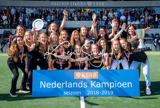 AMSTELVEEN - Den Bosch Kampioen .  finale Den Bosch MA1-SCHC MA1 4-1. Den Bosch wint de titel Meisjes A . finales A en B jeugd  Nederlands Kampioenschap.  COPYRIGHT KOEN SUYK