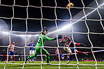 Goalkeeper Iago Herrerin of Athletic de Bilbao fails to save the ball as Diego Roberto Godin Leal of Atletico de Madrid shoots to score during the La Liga 2018-19 match between Atletico de Madrid and Athletic de Bilbao at Wanda Metropolitano, on November 10 2018 in Madrid, Spain. Photo by Diego Gouto / Power Sport Images
