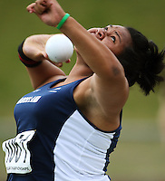 Auckland's Siositina Hakeai, who won the women's under-16 shot put during the National athletics championships at Newtown Park, Wellington, New Zealand on Friday, 27 March 2009. Photo: Dave Lintott / lintottphoto.co.nz