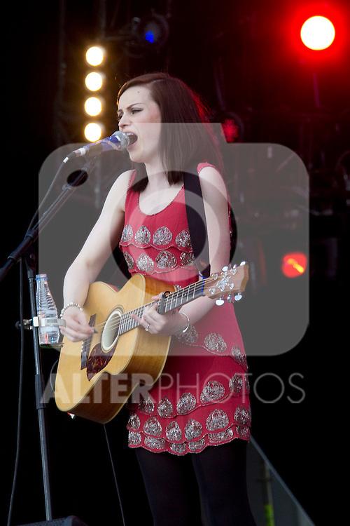 MADRID (06/06/2010).- Amy Macdonald performs during concert at Rock in Rio in Madrid. ..Photo: Cesar Cebolla / ALFAQUI