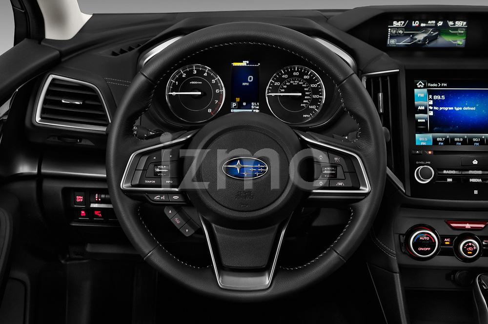 Car pictures of steering wheel view of a 2017 Subaru Impreza 2.0i-Limited-CVT-PZEV 4 Door Sedan Steering Wheel